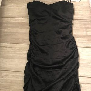 Black silky express dress